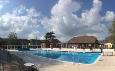 Visitors take the plunge at Petersfield's open air swimming pool