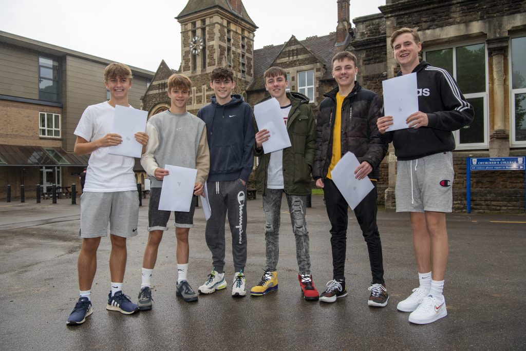 Students from local schools are celebrating their GCSE results. See the pictures and read the details.