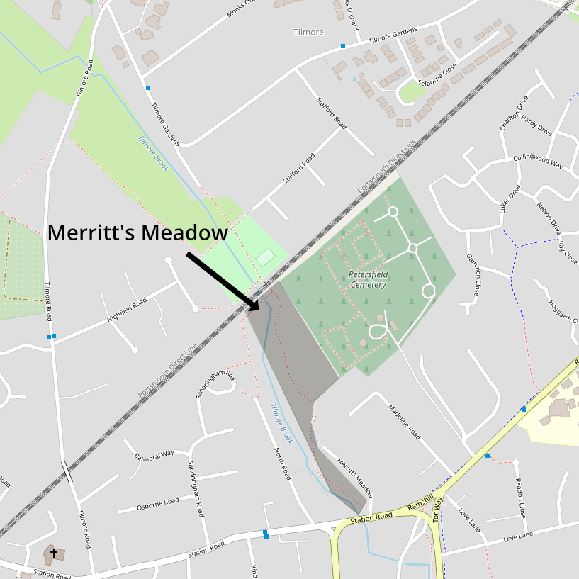 Merritt's Meadow map