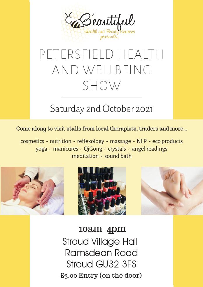 Petersfield Wellbeing Show flyer 2021