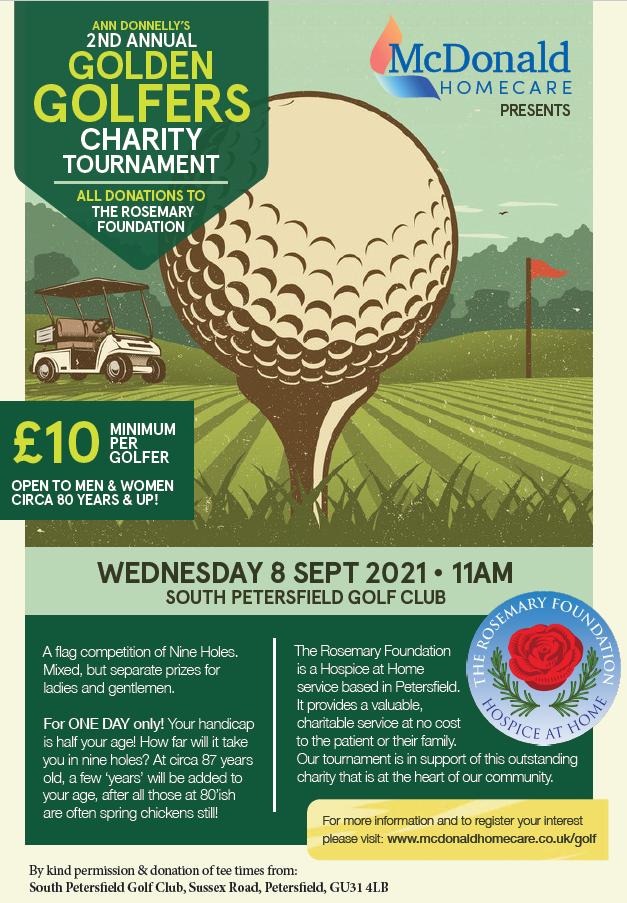 Golf event for Rosemary nurses poster