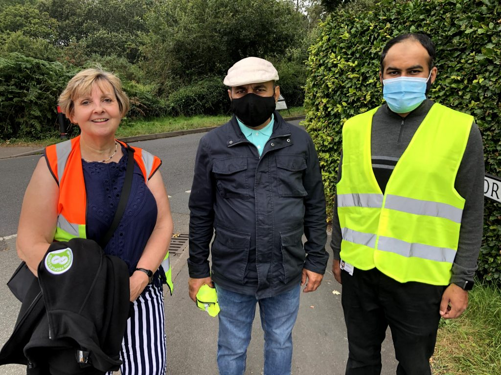 Cllr Julie Butler with Walk for Peace event marshalls