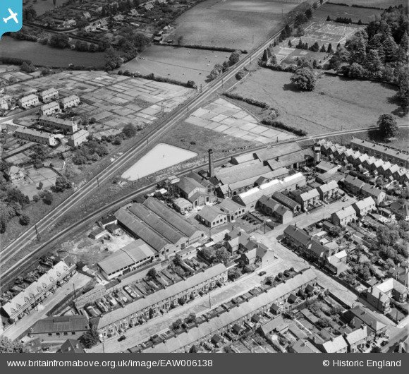 Arial view of the old 'Itshide Rubber Factory', looking north west.